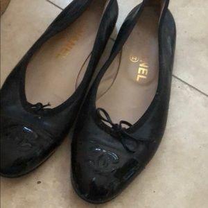 Black Chanel ballet slippers